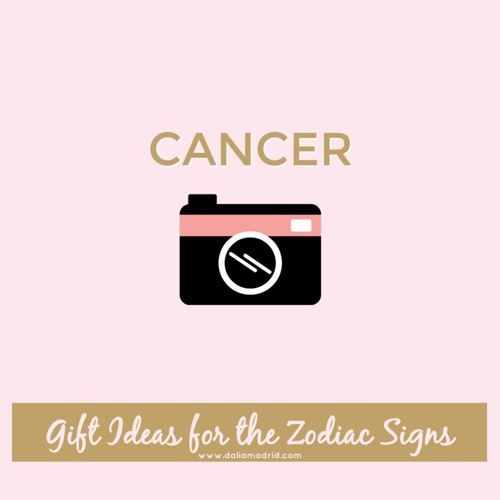 Gift idea for Cancer: Camera