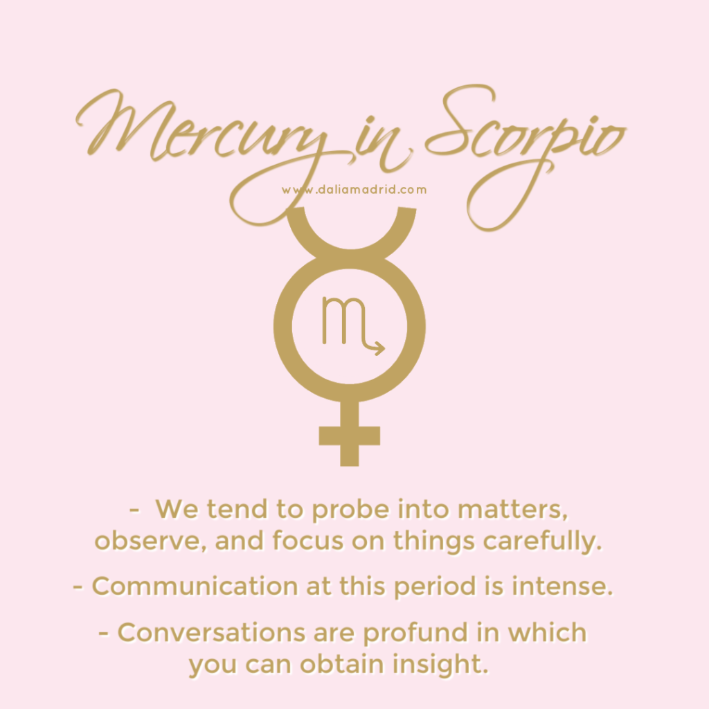 Mercury in Scorpio