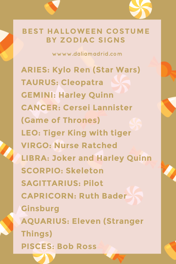 Best Halloween Costume Ideas for the Zodiac Signs